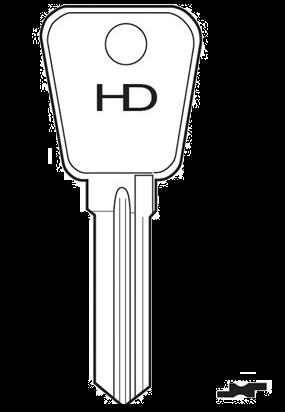 HD LF85 Key blank