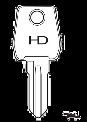 HD LF93R Key blank