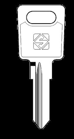 Silca LS11 Key Blank