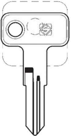 Silca MER33R Key blank