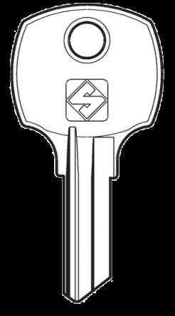 Silca NCR6 Key blank