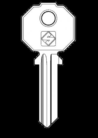Silca PF092 Key blank