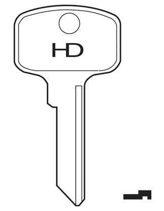 HD PH1 Key blank