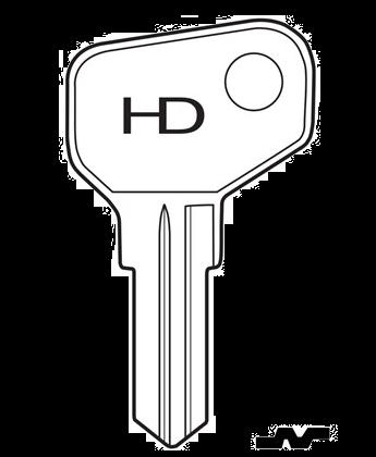 HD PR1 Key blank