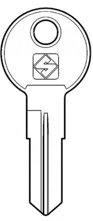 Silca REN2R 5 pin Cylinder Key Blank  To suitRenz, Eurolocks & L&F Locks.  Steel Key