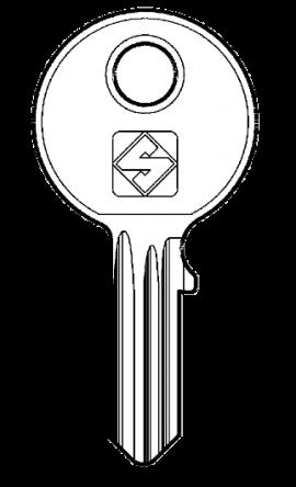 Silca SHW2 Key blank