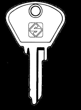 SILCA SIP1 Key blank