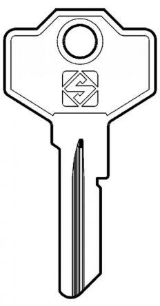 Silca SM1 Cylinder Key Blank  To suit Giussani Locks  Steel Key