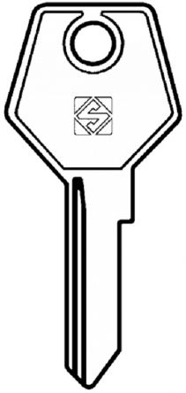 Silca STR2 cylinder key blank  to suit Strebor locks  Steel Key