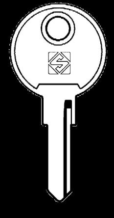 Silca STR5R Key blank