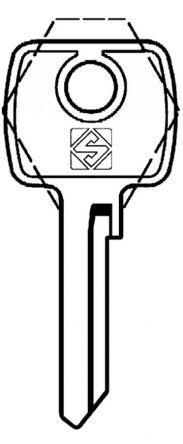 Silca STR6cylinder key blank  to suit Strebor locks  Steel Key