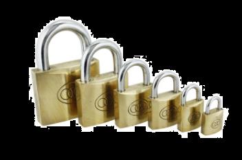 Tri-Circle Brass Open Shackle Padlock