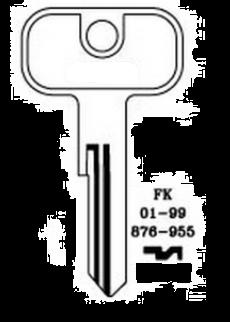 Silca UNI16R Key blank