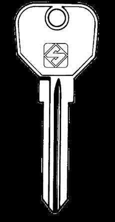 Silca UNI19 Key blank