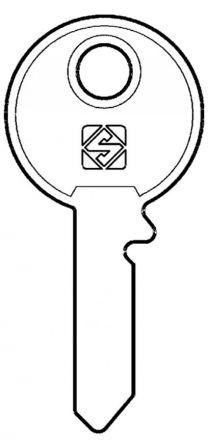 Silca UNI1 Key Blank   to suit Union, Chubb, West Alloy & Leyland locks  Steel Key