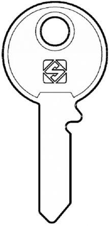 Silca UNI1R Key blank
