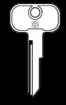 Silca UNI7 Key blank