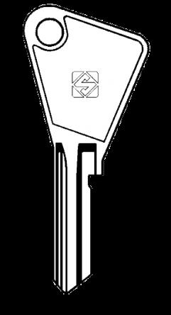 Silca VAC2 Key blank