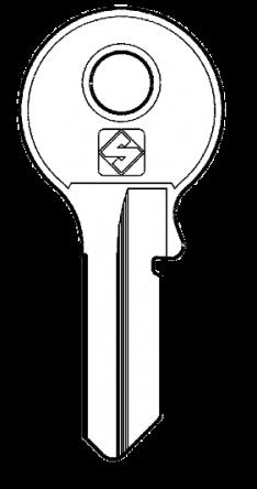 Silca VI084 Key blank