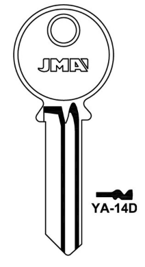 JMA YA-14D MasterKey Blank  to suit Yale locks  Steel Key