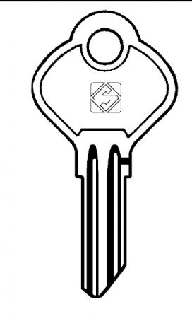 Silca YA17R Key blank