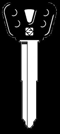 Silca YH35RBP Key blank