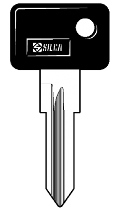 Silca ZD14RP Cylinder Key Blank
