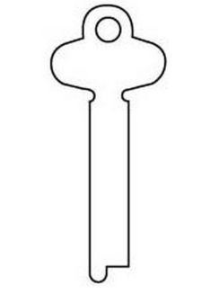 Silca ZG Key blank