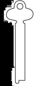 Silca ZL Flat Steel Key Blank  50mm Blank  To suit Lowe & Fletcher, Union & YaleLocks  Steel Key